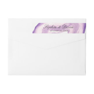 Watercolor Agate | Lavender | Wrap Around Label