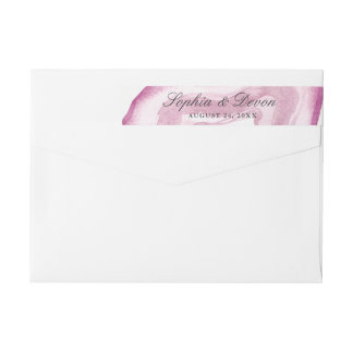 Watercolor Agate | Mauve Pink | Wrap Around Label
