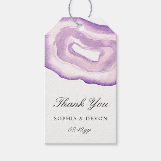 Watercolor Agate Wedding Gift Tags | Lavender