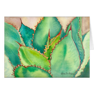 Watercolor Agave Greeting Card #2
