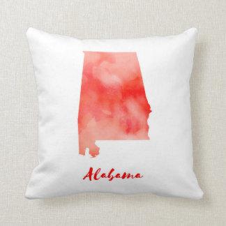 Watercolor Alabama United States Cushion