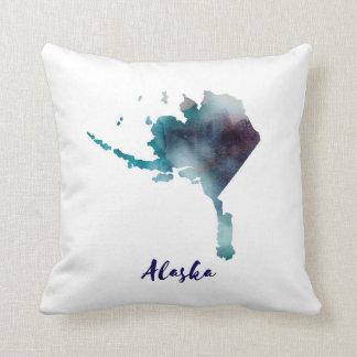 Watercolor Alaska United States Cushion