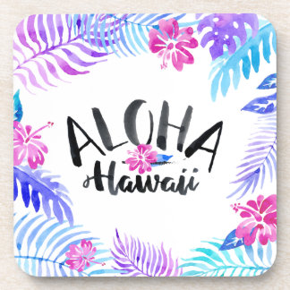 Watercolor Aloha Hawaii Tropical | Coaster