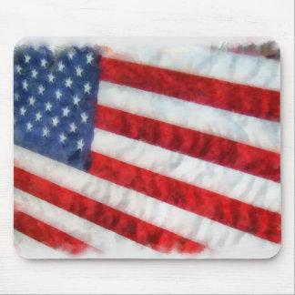 Watercolor American Flag Mousepad