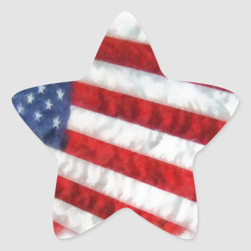 Watercolor American Flag Stickers