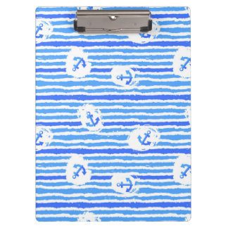 Watercolor Anchor Pattern 1 Clipboard