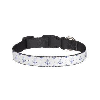 Watercolor Anchor Pattern 2 Pet Collar