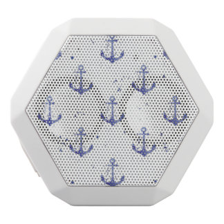 Watercolor Anchor Pattern 2 White Bluetooth Speaker