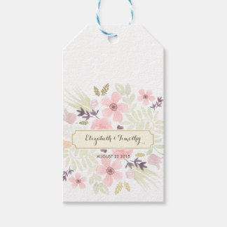 Watercolor and Gold Garden Gift Favor Tag