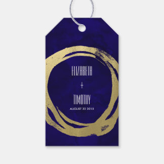 Watercolor and Gold Modern Gift Favor Tag