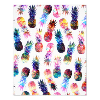 watercolor and nebula pineapples illustration 11.5 cm x 14 cm flyer