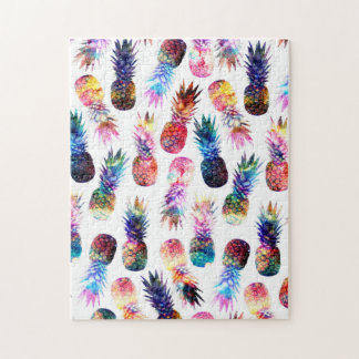 watercolor and nebula pineapples illustration jigsaw puzzle