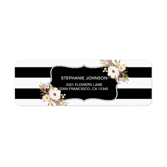 Watercolor Anemone Blooms Return Address Labels
