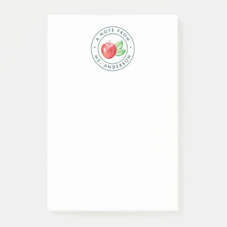 Watercolor Apple Note from Teacher