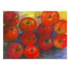Watercolor Apples Painting Poster