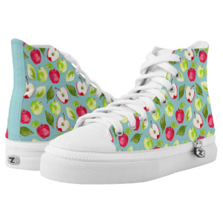 Watercolor Apples Pattern High Tops