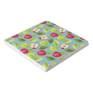 Watercolor Apples Pattern Trivet