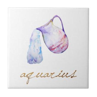 Watercolor Aquarius Water Bearer Tile
