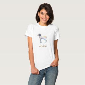 Watercolor Aries Ram Tee Shirts