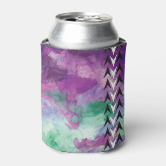 Watercolor Arrowhead Can Design Can Cooler