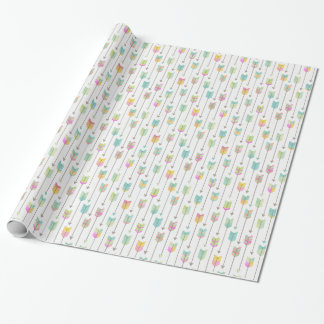 Watercolor Arrows Pattern Wrapping Paper