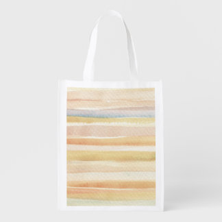 Watercolor art background, texture reusable grocery bag
