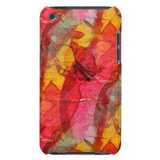 Watercolor art red yellow barely there iPod cover
