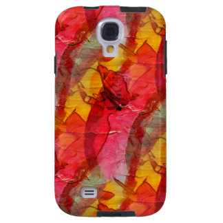 Watercolor art red yellow galaxy s4 case