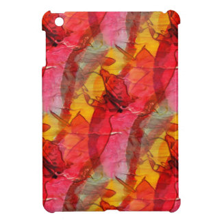 Watercolor art red yellow iPad mini covers