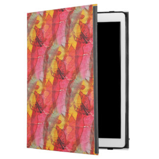 "Watercolor art red yellow iPad pro 12.9"" case"