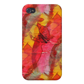 Watercolor art red yellow iPhone 4 cover
