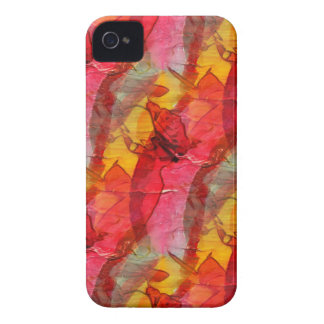 Watercolor art red yellow iPhone 4 covers