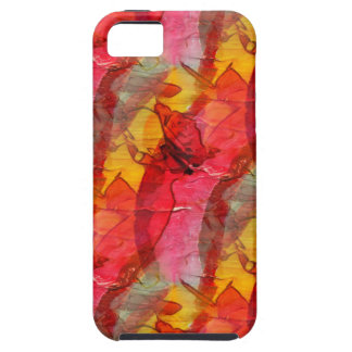 Watercolor art red yellow iPhone 5 case