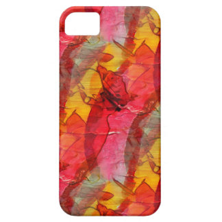 Watercolor art red yellow iPhone 5 cases