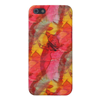Watercolor art red yellow iPhone 5 cover