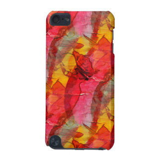 Watercolor art red yellow iPod touch 5G cases