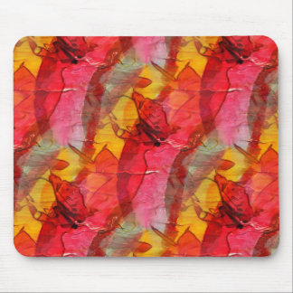 Watercolor art red yellow mouse mat