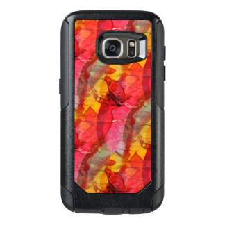 Watercolor art red yellow OtterBox samsung galaxy s7 case