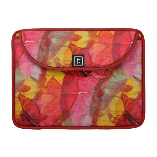 Watercolor art red yellow sleeve for MacBooks