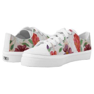 Watercolor art shoes, shoes flowers
