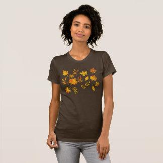 Watercolor Autumn Leaves T-Shirt