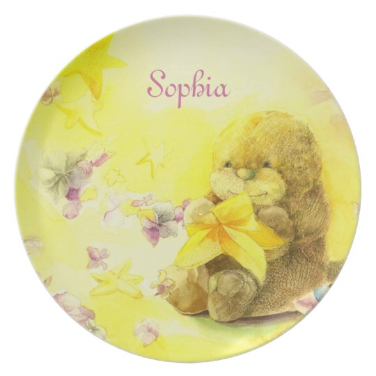 Watercolor Baby Otter Birthday Gift Plate
