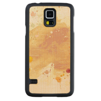 watercolor background carved maple galaxy s5 case