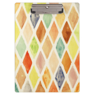 Watercolor background clipboard