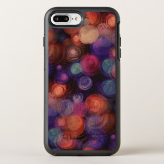 watercolor background dots / circles OtterBox symmetry iPhone 8 plus/7 plus case