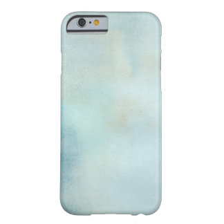 watercolor background in pastel blue and yellow barely there iPhone 6 case