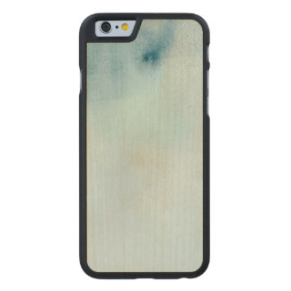 watercolor background in pastel blue and yellow carved® maple iPhone 6 slim case