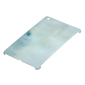 watercolor background in pastel blue and yellow case for the iPad mini
