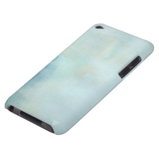 watercolor background in pastel blue and yellow Case-Mate iPod touch case