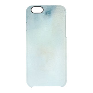 watercolor background in pastel blue and yellow clear iPhone 6/6S case